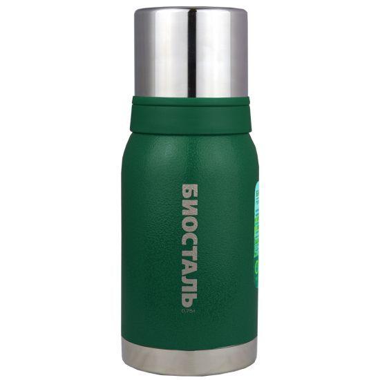 Термос Biostal Biostal Охота (0,75 литра) 2 чашки - зеленый