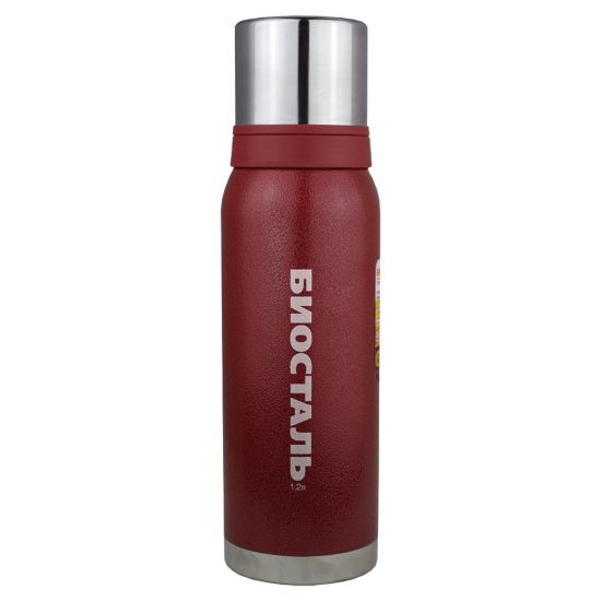 Термос Biostal Biostal Охота (1,2 литра) 2 чашки - красный
