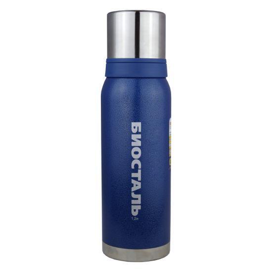 Термос Biostal Biostal Охота (1,2 литра) 2 чашки - синий