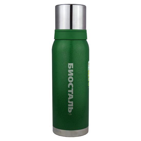 Термос Biostal Biostal Охота (1,2 литра) 2 чашки - зеленый