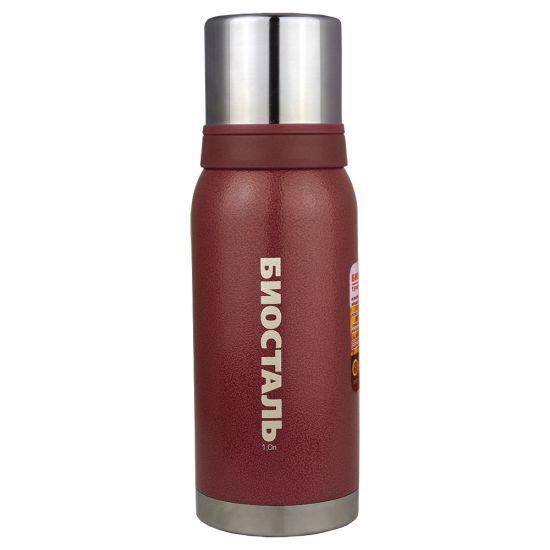 Термос Biostal Biostal Охота (1 литр) 2 чашки - красный