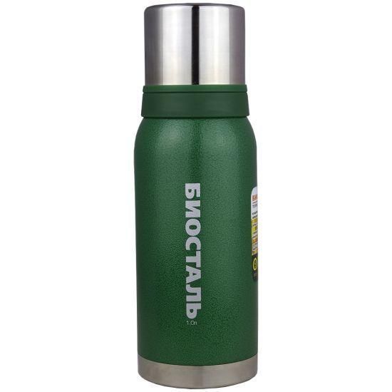 Термос Biostal Biostal Охота (1 литр) 2 чашки - зеленый