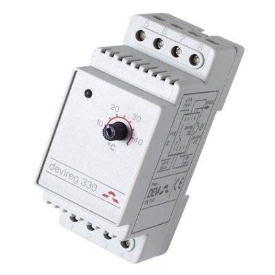 Фото - Терморегулятор для теплого пола Devi Devi Devireg™ 330 с диапазоном температур от +60° до +160°C с датчиком на проводе терморегулятор devi devireg д 130 с датчиком пола накладной