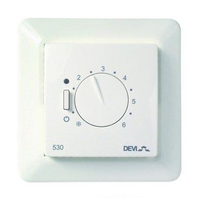 Фото - Терморегулятор для теплого пола Devi Devi Devireg™ 530 ELKO с датчиком пола терморегулятор devi devireg д 130 с датчиком пола накладной