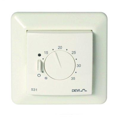 Терморегулятор для теплого пола Devi Devireg™ 531 ELKO с датчиком воздуха фото