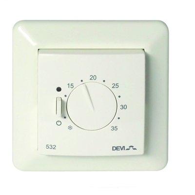 Терморегулятор для теплого пола Devi Devireg™ 532 ELKO с датчиком пола и воздуха фото