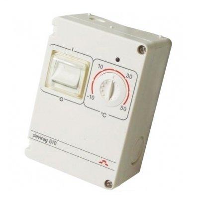 Терморегулятор для теплого пола Devi Devireg™ 610 для наружных систем обогрева фото