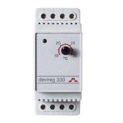 Купить Терморегулятор для теплого пола Devi Д-330, +5°C-+45°C с датч. на проводе в интернет магазине климатического оборудования