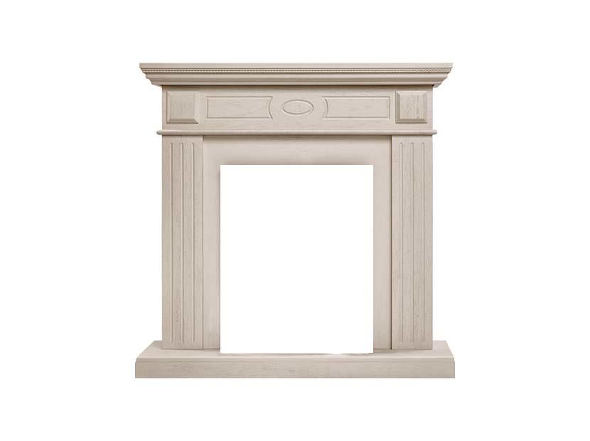 Классический портал для камина Electrolux Bianco Classic Беленый дуб фото