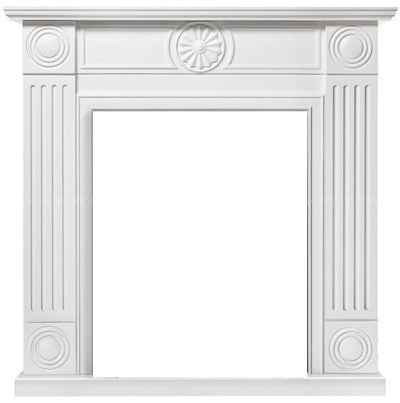 Классический портал для камина Electrolux Frame Classic белый фото