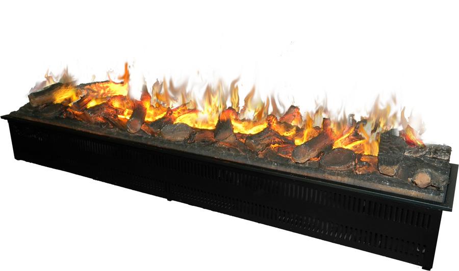 Широкий 3D камин (очаг) с эффектом живого огня Glenrich Paso doble 3D фото