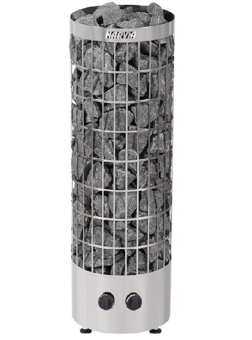 Электрическая печь HARVIA HARVIA Cilindro PC70 Steel со встроенным пультом