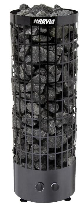 Электрическая печь HARVIA HARVIA Cilindro PC90 Black Steel со встроенным пультом