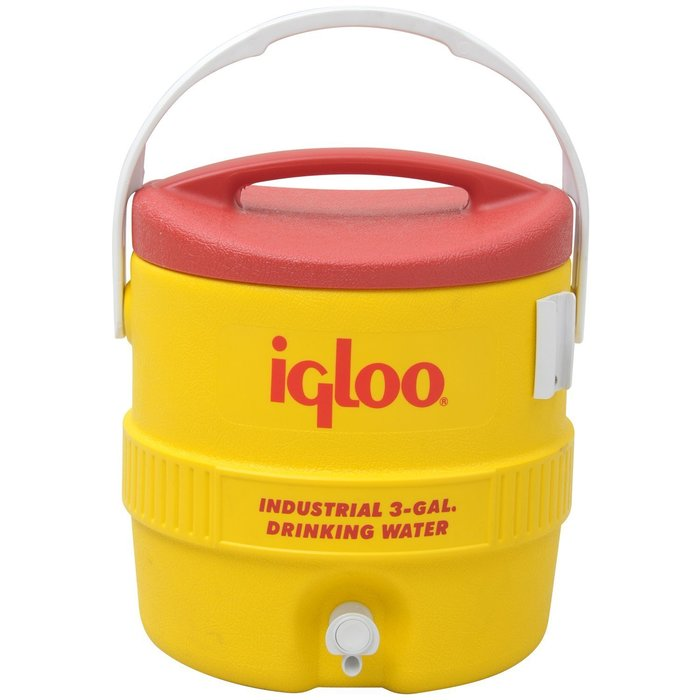 Вместительный изотермический пластиковый контейнер Igloo 10 Gal 400 series yellow фото