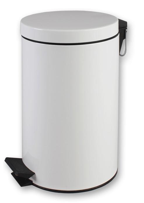 Урны для мусора Jofel Ведро 5 л с крышкой (металл/белая эмаль) фото