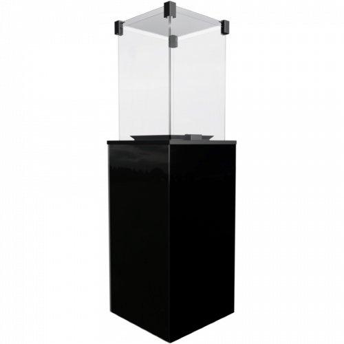 Обогреватель газового типа Kratki Kratki PATIO/M/G31/37MBAR/CZ - черное стекло, с ручным управлением