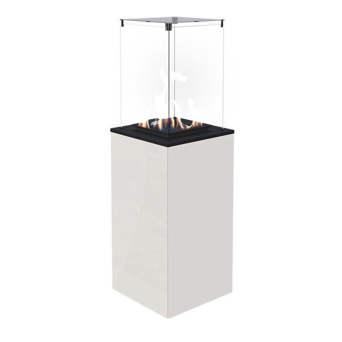Газовый обогреватель для кафе Kratki Kratki PATIO MINI/M/G31/37MBAR/B - белое стекло, с ручным управлением
