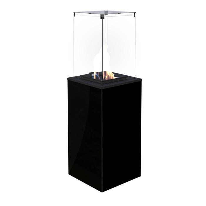 Закрытый газовый обогреватель Kratki Kratki PATIO MINI/M/G31/37MBAR/CZ - черное стекло, с ручным управлением