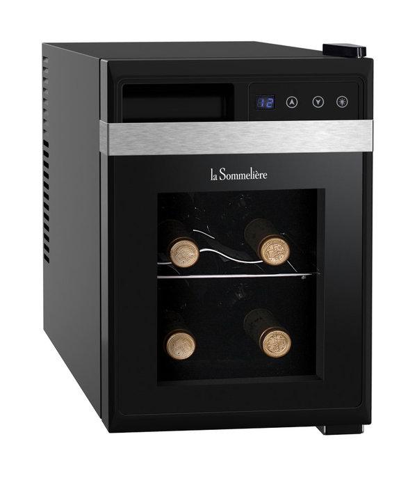 Отдельностоящий винный шкаф до 12 бутылок LaSommeliere LaSommeliere LS6K шкаф для вина и сигар teak