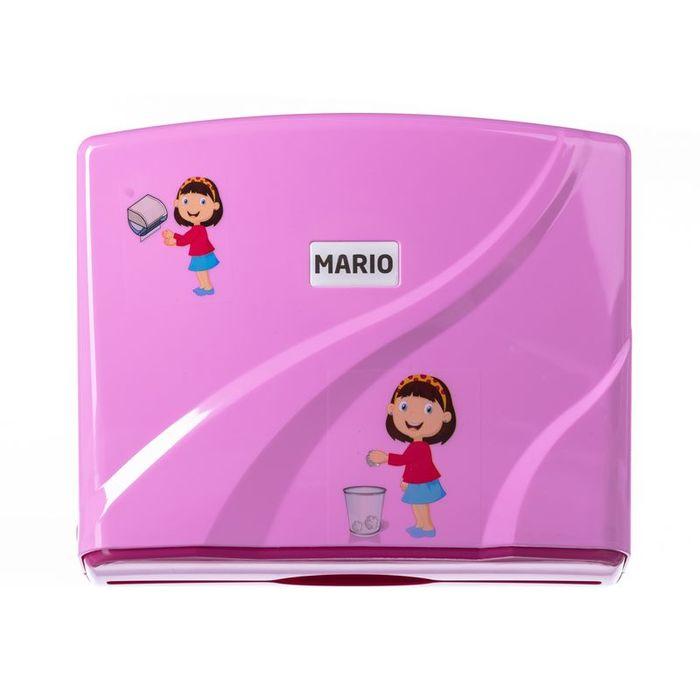Диспенсер для бумажных полотенец Mario Kids 8329 Pink фото