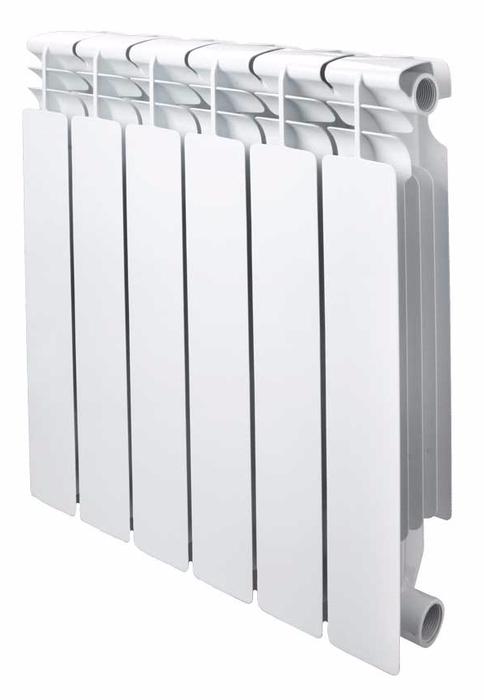 Биметаллический радиатор OGINT OGINT РБС 500 8 секц 1400Вт биметаллический радиатор rifar рифар b 500 нп 10 сек лев кол во секций 10 мощность вт 2040 подключение левое