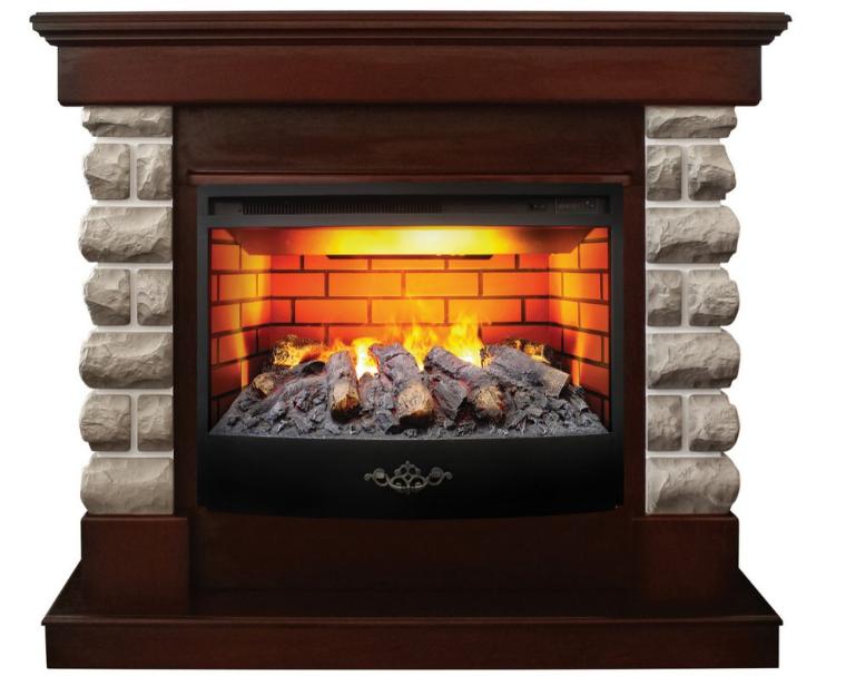 Пристенный электрокамин Real-Flame Real-Flame Arizona 25,5 с очагом 3D Firestar 25,5