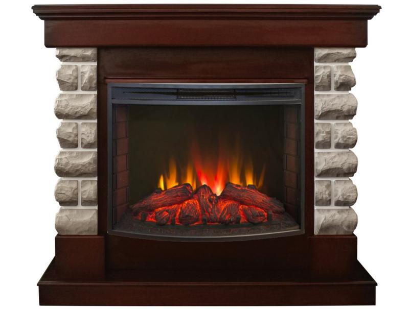 Пристенный электрокамин Real-Flame Real-Flame Arizona 25,5 с очагом Evrika 25,5 LED