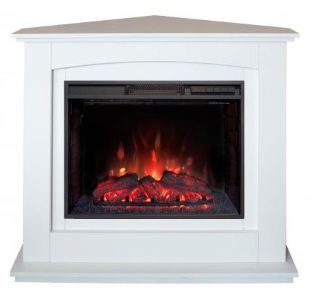 Угловой электрокамин Real-Flame Real-Flame Canada Corner 25,5 WT с очагом Evrika 25,5 LED