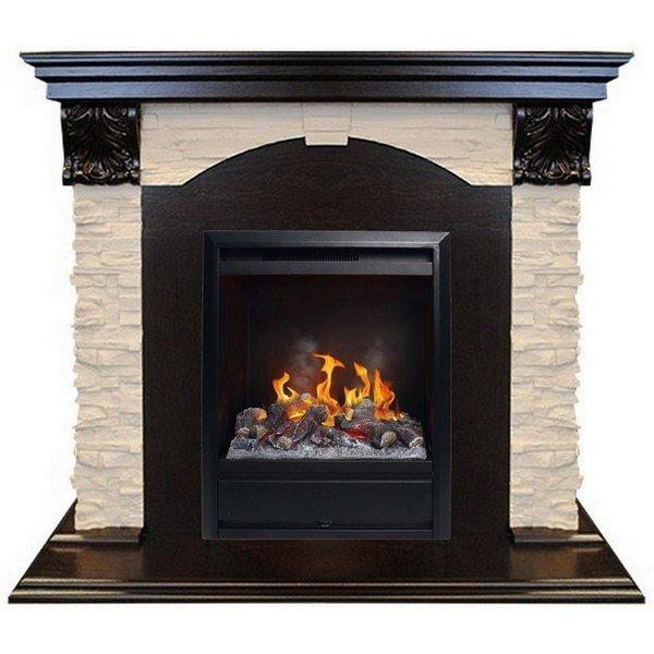 Фронтальный электрический камин Real-Flame Dublin LUX STD/EUG с очагом 3D Olympic фото