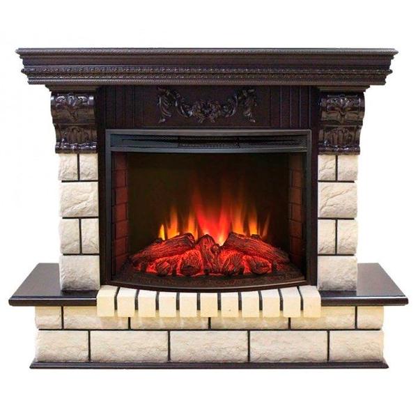 Камин для загородного дома Real-Flame Gracia 25'5/24 AO с очагом Evrika 25,5 LED фото