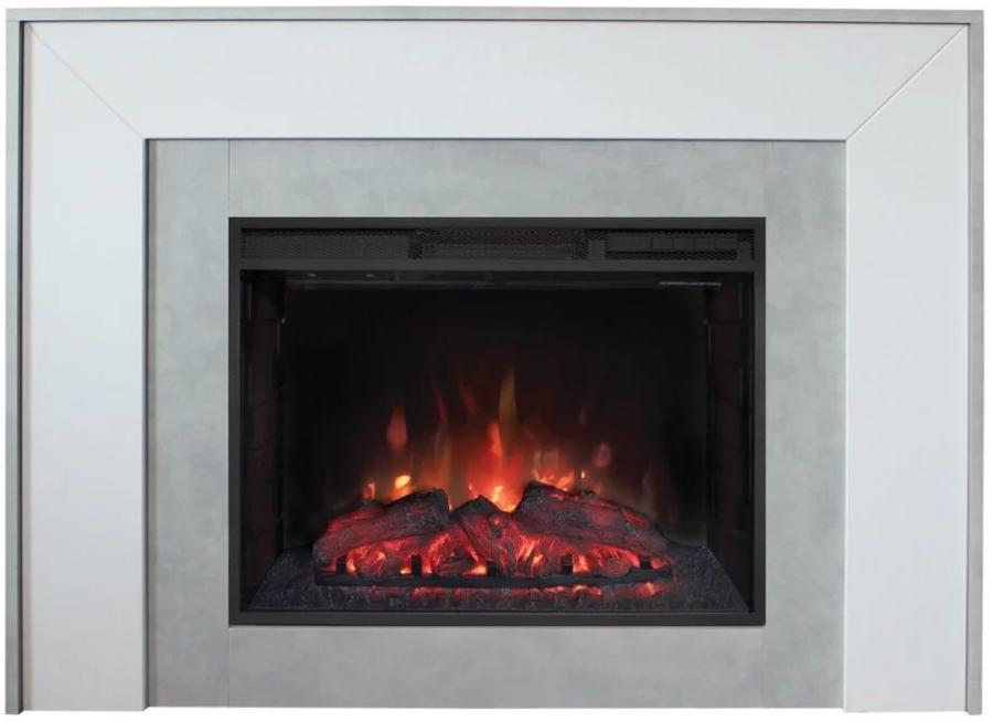 Пристенный электрокамин Real-Flame Real-Flame Jersey 25,5 GR с очагом Evrika 25,5 LED