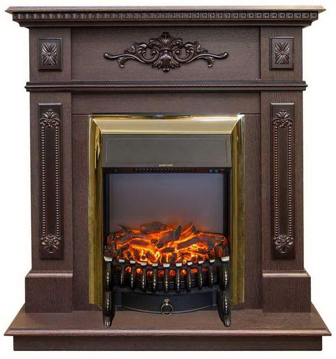 Электрокамин темный Real-Flame Real-Flame Lilian STD/EUG DN с очагами Fobos s Lux BL/BR, Majestic s Lux BL/BR