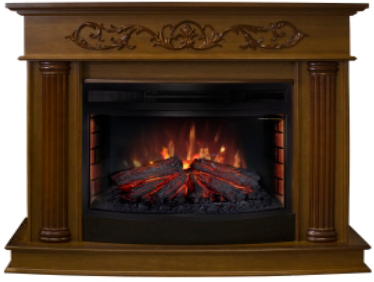 Пристенный электрокамин Real-Flame Real-Flame Milano 25/25,5 NT с очагом Evrika 25,5 LED