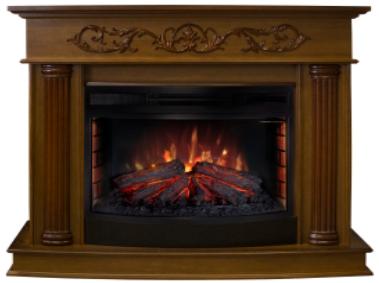 Пристенный электрокамин Real-Flame Real-Flame Milano 25/25,5 NT с очагом Firefield 25 S IR