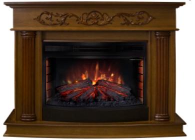 Пристенный электрокамин Real-Flame Real-Flame Milano 25/25,5 NT с очагом Sparta 25,5 LED