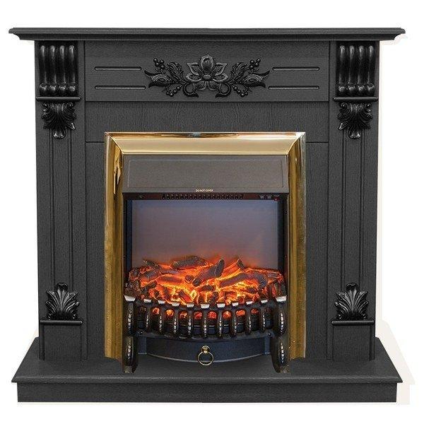 Камин в офис Real-Flame Real-Flame Ottawa STD/EUG DN с очагами Fobos s Lux BL/BR, Majestic s Lux BL/BR