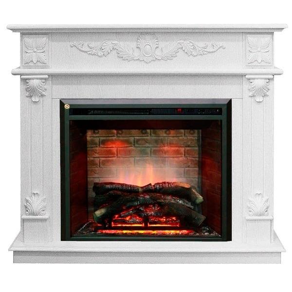 Стильный каминный комплект Real-Flame Philadelphia 25,5/26 WT с очагом 3D Leeds 26 фото