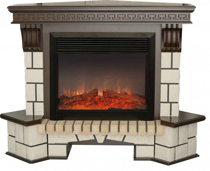 Высокий камин Real-Flame Stone Corner new 26 с очагом Moonblaze lux Bl/Br
