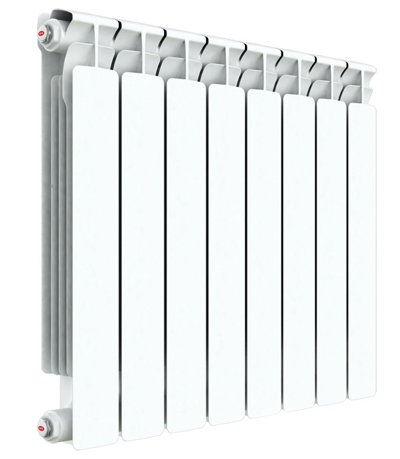Биметаллический радиатор Rifar Rifar Base Ventil 350/8 секц. BVL биметаллический радиатор rifar рифар b 500 нп 10 сек лев кол во секций 10 мощность вт 2040 подключение левое