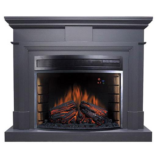 Электрокамин с широким очагом 2D Royal Flame Royal Flame Coventry Graphite Grey с очагом Dioramic 28 LED FX недорого