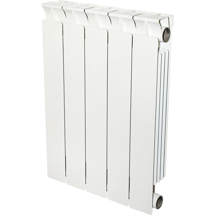Биметаллический радиатор STOUT STOUT STYLE 500 8 секций биметаллический радиатор rifar рифар b 500 нп 10 сек лев кол во секций 10 мощность вт 2040 подключение левое