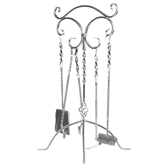 Аксессуар SafaMaster SafaMaster Набор для камина 760х380х380 серебро