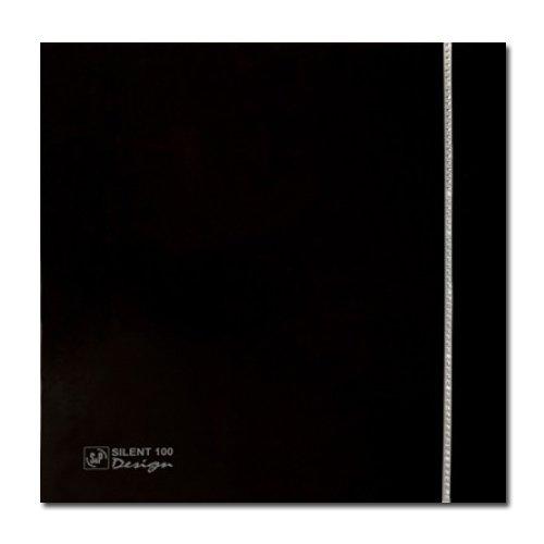 Черный вытяжной вентилятор Soler & Palau SILENT-100 CZ BLACK SWAROVSKI DESIGN (230V 50) фото