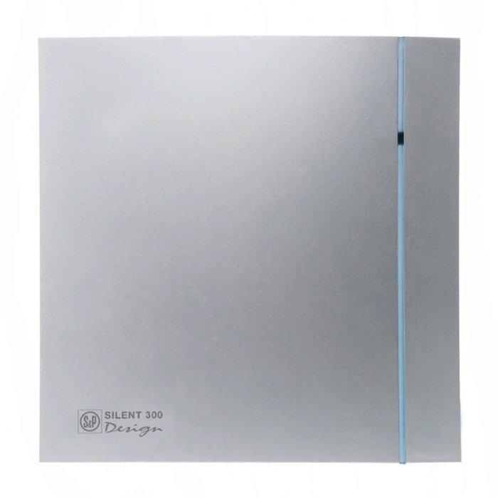 Вытяжка для ванной диаметр свыше 150 мм Soler & Palau SILENT-300CHZ 'PLUS' SILVER DESIGN-3C фото