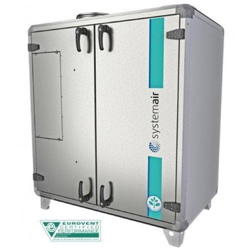 Приточно-вытяжная система вентиляции с электрическим нагревателем Systemair Topvex TR09 EL-R-CAV фото