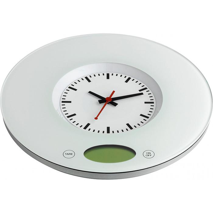 Весы кухонные c кварцевыми часами TFA