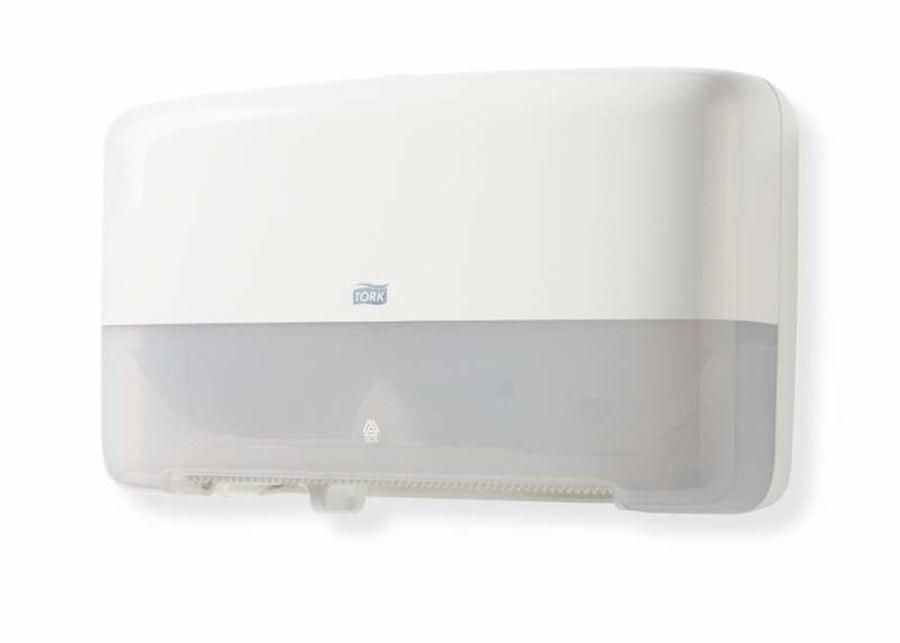 Диспенсер для туалетной бумаги Tork Двойной диспенсер белый фото