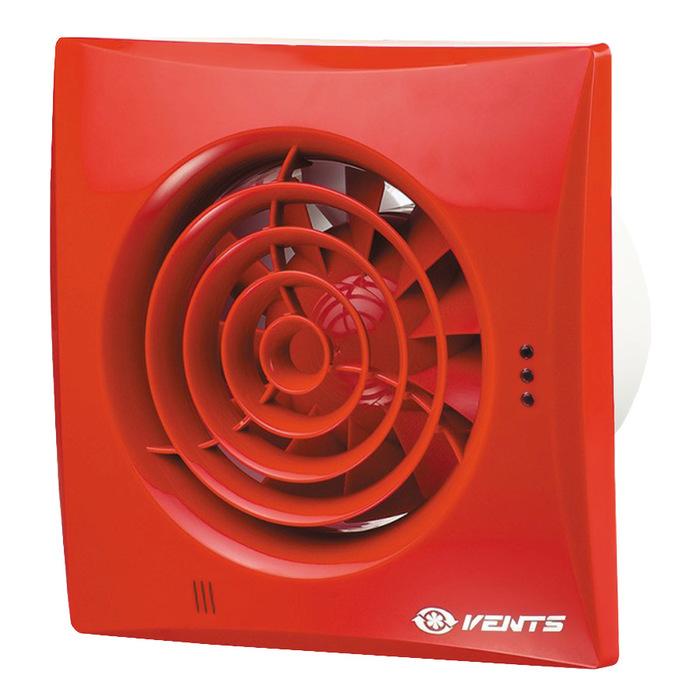 Вытяжка для ванной диаметр 100 мм Vents 100 Quiet красный фото