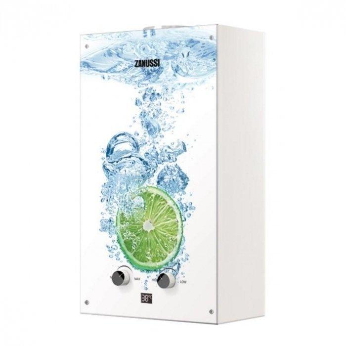 Настенная газовая колонка Zanussi GWH 10 Fonte Glass Lime фото