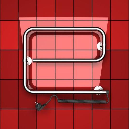Электрический е образный полотенцесушитель Двин.